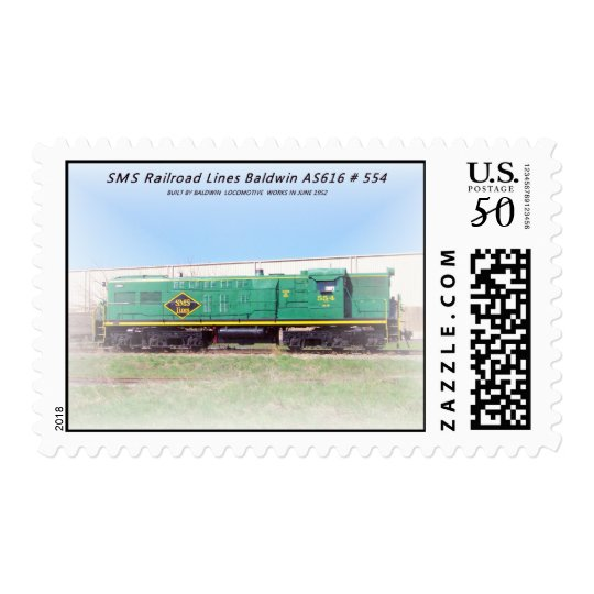 Baldwin AS616 # 554 SMS Railroad Lines Postage