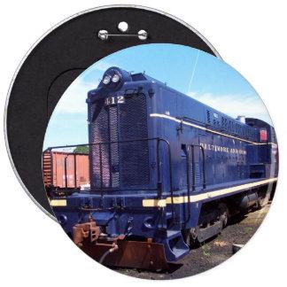 Baldwin B&O Locomotive #412 6 Inch Round Button