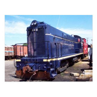 Baldwin B&O Locomotive # 412 Post Card
