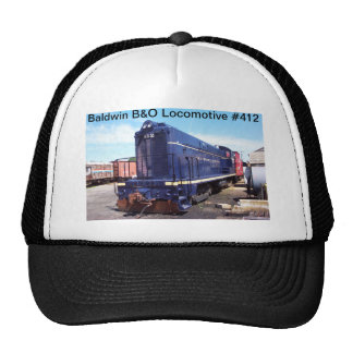 Baldwin B&O Locomotive #412 Trucker Hat
