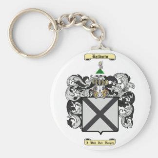 Baldwin Basic Round Button Keychain