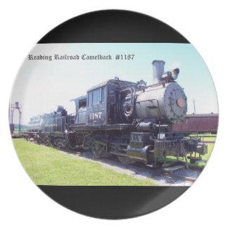 Baldwin Built Reading Railroad Camelback  #1187 Melamine Plate