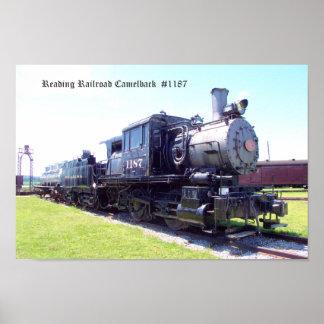 Baldwin Built Reading Railroad Camelback  #1187 Poster