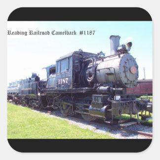 Baldwin Built Reading Railroad Camelback  #1187 Square Stickers