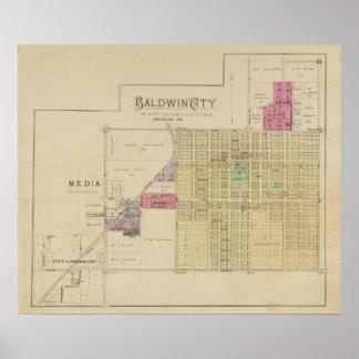 Baldwin City, Douglas County, Kansas Print