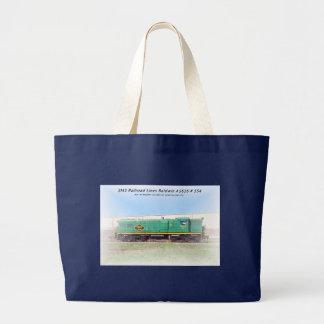 Baldwin Diesel  AS616  # 554  SMS Railroad Lines Large Tote Bag