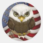 Baldwin Eagle calvo lindo Pegatinas