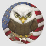 Baldwin Eagle calvo lindo Pegatinas Redondas