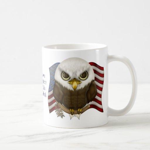 Baldwin Eagle calvo lindo personalizado Tazas De Café