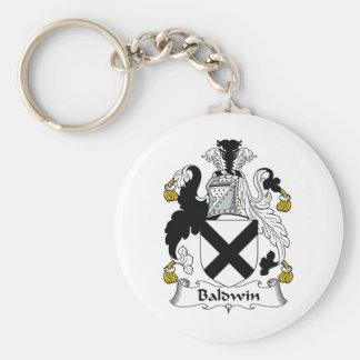 Baldwin Family Crest Basic Round Button Keychain