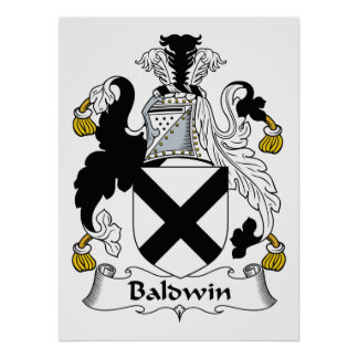 Baldwin Family Crest Poster