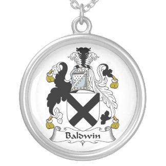 Baldwin Family Crest Round Pendant Necklace