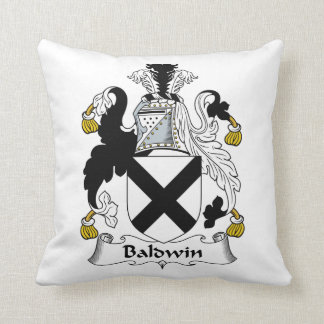 Baldwin Family Crest Throw Pillow