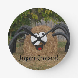 Baldwin Farm 's Jeepers Creepers Round Clock