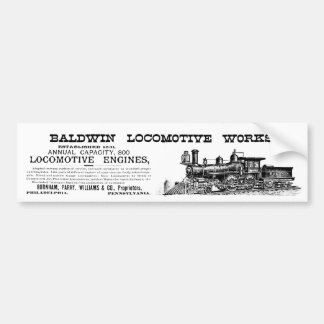 Baldwin Locomotive Company Established 1831 Bumper Sticker