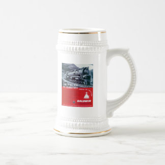 Baldwin Locomotive S-2 PRR Steam Turbine Beer Stein