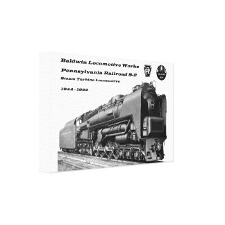 Baldwin Locomotive S-2 PRR Steam Turbine Canvas Print