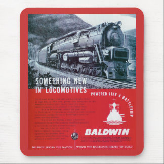 Baldwin Locomotive S-2 PRR Steam Turbine Mouse Pad