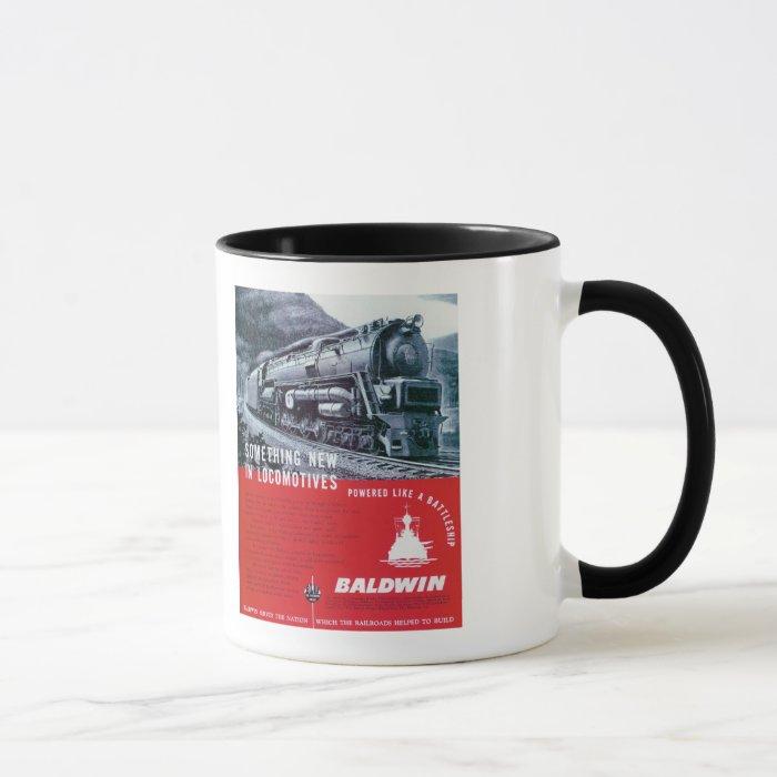 Baldwin Locomotive S-2 PRR Steam Turbine Mug