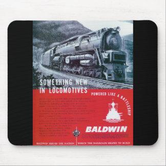 Baldwin Locomotive S-2 Steam Turbine Locomotive Mouse Pad