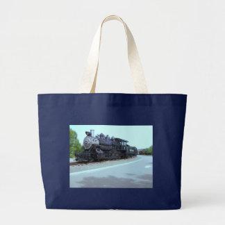 Baldwin Locomotive Works # 15 - Rahway Valley RR Large Tote Bag