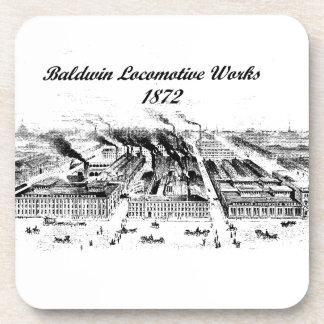 Baldwin Locomotive Works 1872 cork coasters