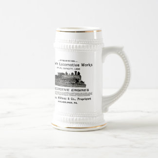 Baldwin Locomotive Works 1895 Beer Stein
