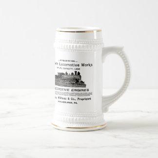 Baldwin Locomotive Works 1895 Beer Stein Mugs