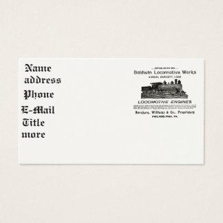 Baldwin Locomotive Works 1895 Business Cards
