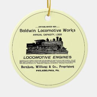Baldwin Locomotive Works 1895 Circle Ornament