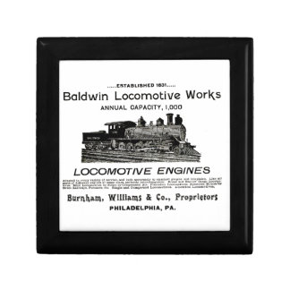 Baldwin Locomotive Works 1895 Giftbox Jewelry Box