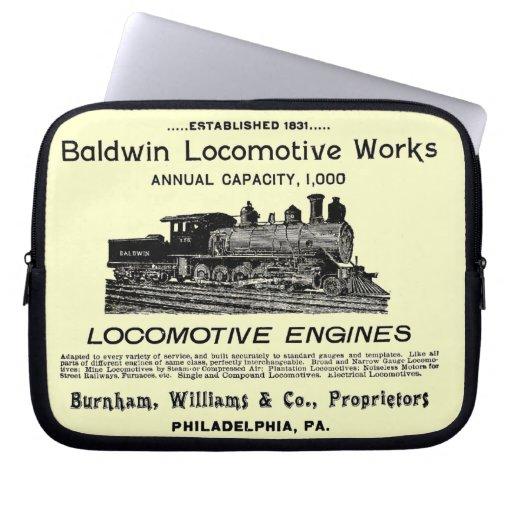Baldwin Locomotive Works 1895 Computer Sleeves