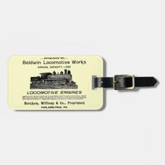 Baldwin Locomotive Works 1895 Tags For Luggage