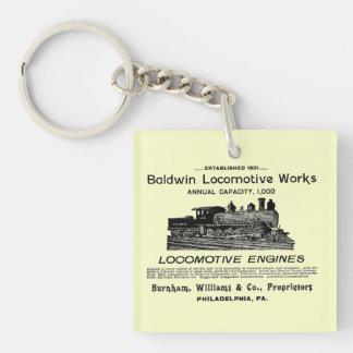 Baldwin Locomotive Works 1895 Square  Keychain