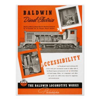 Baldwin Locomotive Works 1948 Poster
