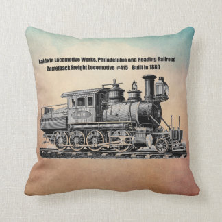 Baldwin Locomotive Works Camelback #415 Pillow