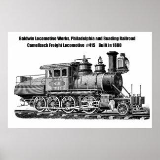 Baldwin Locomotive Works Camelback #415 Poster