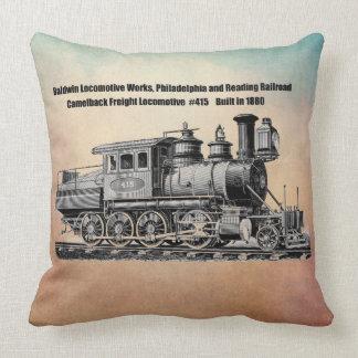 Baldwin Locomotive Works Camelback #415 Throw Pillow