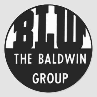 Baldwin Locomotive Works Classic Round Sticker