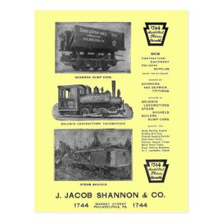Baldwin Locomotive Works Contractor Loco Postcard