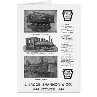 Baldwin Locomotive Works Contractor s Locomotives Greeting Card