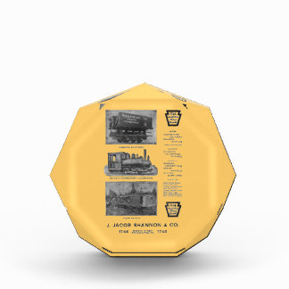 Baldwin Locomotive Works Contractor's Locomotives Acrylic Award