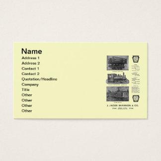 Baldwin Locomotive Works Contractor's Locomotives Business Card