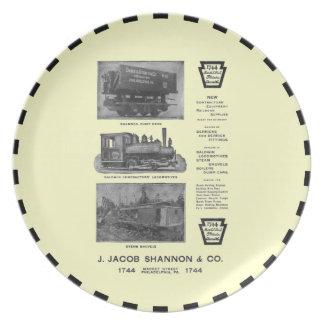 Baldwin Locomotive Works Contractor's Locomotives Melamine Plate