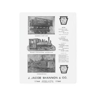 Baldwin Locomotive Works Contractor's Locomotives Metal Print