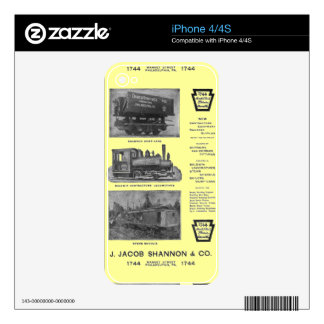Baldwin Locomotive Works Contractor's Locomotives Skins For The iPhone 4S
