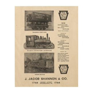 Baldwin Locomotive Works Contractor's Locomotives Wood Print