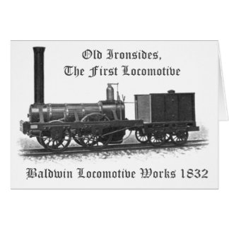Baldwin Locomotive Works Old Ironsides 1832 Greeting Cards