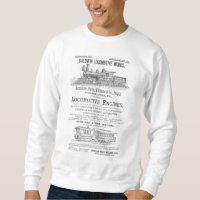 Baldwin Locomotive Works Railway Locomotives Sweatshirt