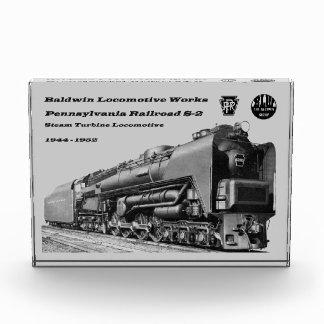 Baldwin Locomotive Works S-2 PRR Steam Turbine Acrylic Award